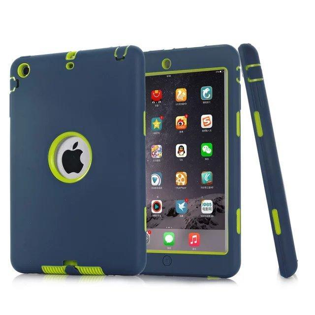 Smile IT SC navy HOT!For iPad mini 1/2/3 Retina Kids Safe Armor Shockproof Heavy Duty Silicone Hard Case Cover free Screen protector film+stylus
