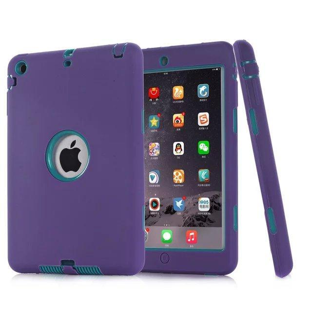 Smile IT SC purple Cymbidium HOT!For iPad mini 1/2/3 Retina Kids Safe Armor Shockproof Heavy Duty Silicone Hard Case Cover free Screen protector film+stylus