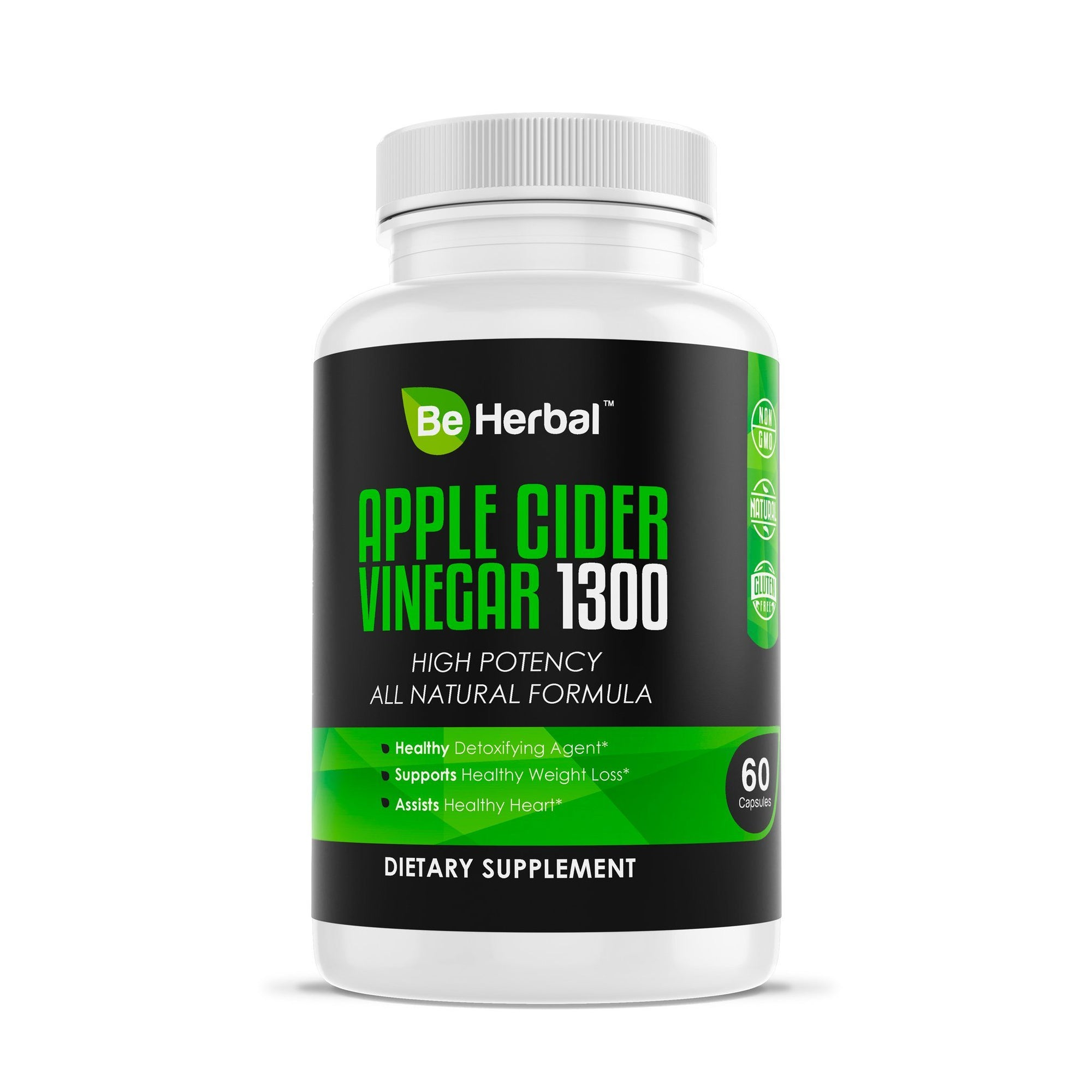 Apple Cider Vinegar 1300mg Herbal Supplements Be Herbal®