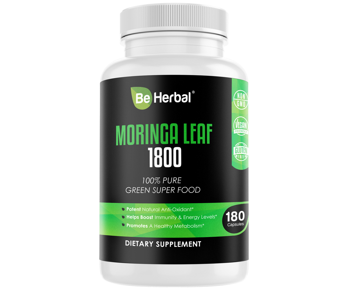 BE HERBAL Moringa Capsules 1800mg - 180 Capsules