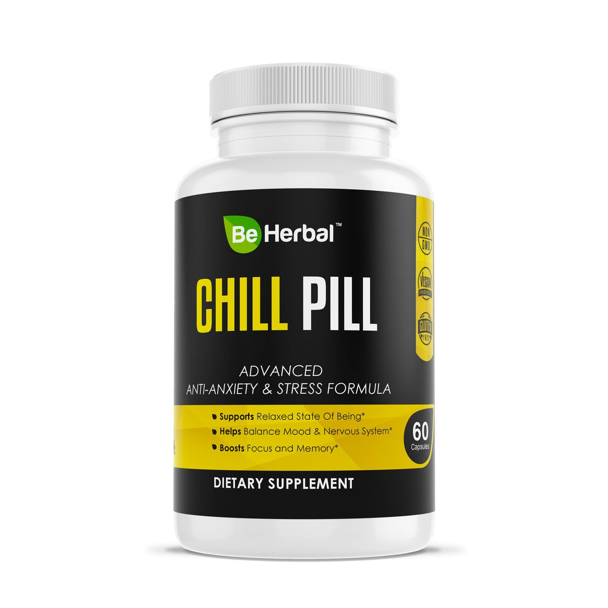 Chill Pill - Advanced Anti Anxiety Formula Herbal Supplements Be Herbal®