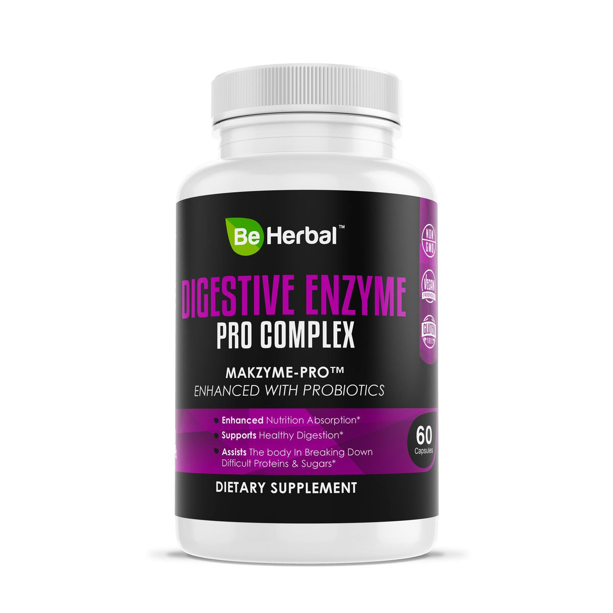 Digestive Enzyme Pro Complex - Enhanced with Probiotics Herbal Supplements Be Herbal®