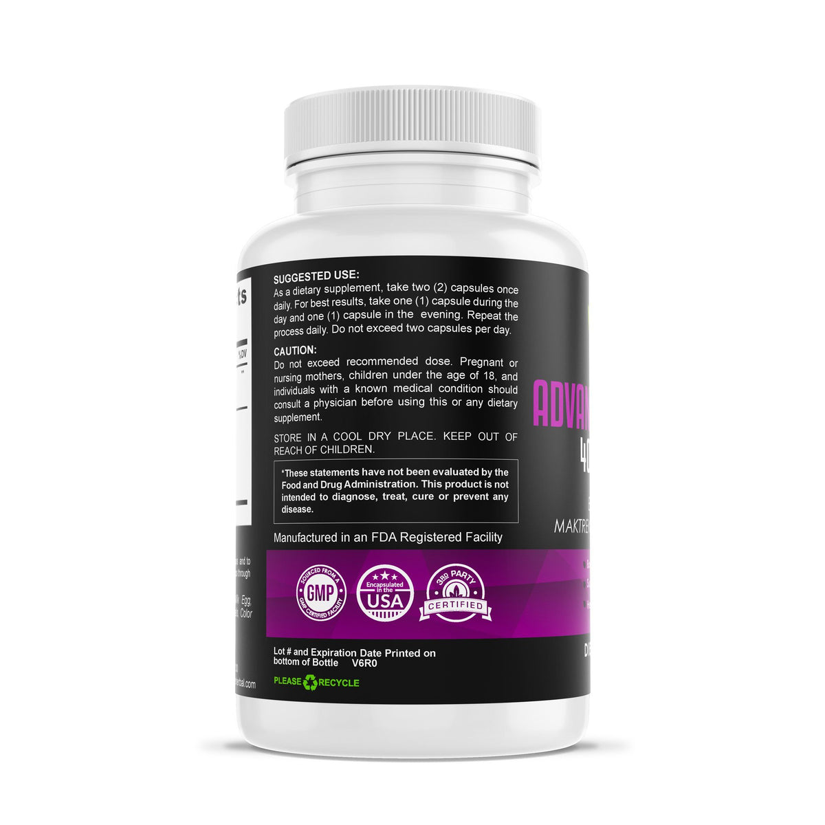 Advanced ProBiotic 40 Billion CFU Herbal Supplements Be Herbal®