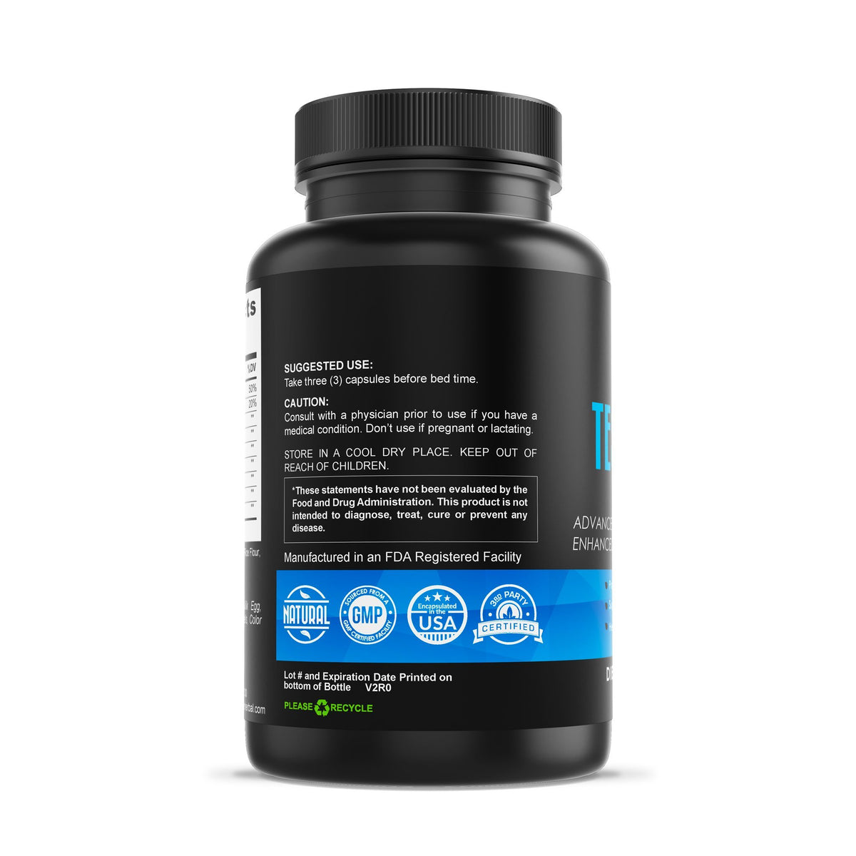 Testo Pro - Testosterone Support Complex Herbal Supplements Be Herbal®