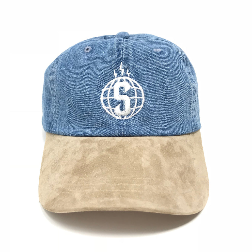 Sheeesh Logo Denim Hat - Blue