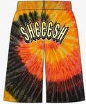 Sheeesh Arch Tye Die Shorts - Orange
