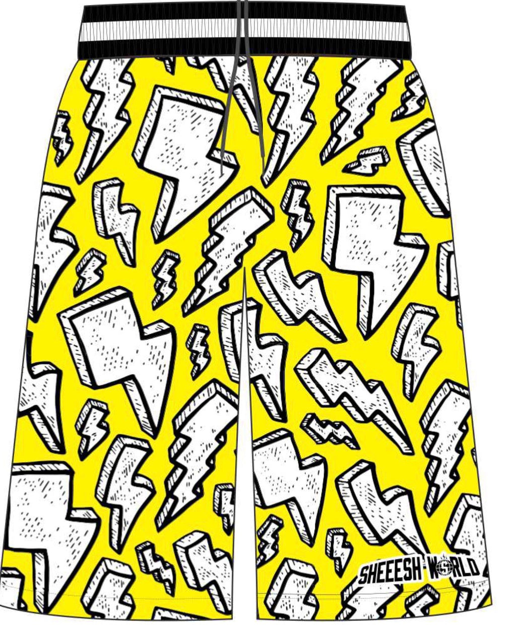 Lighting Bolts Shorts - Yellow
