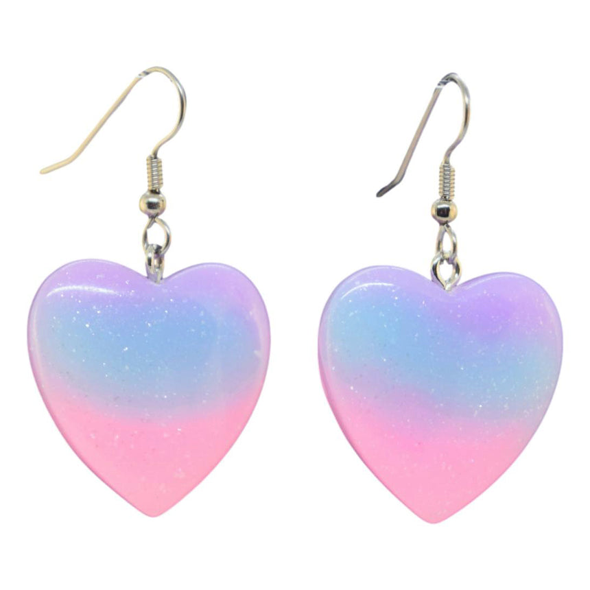Pastel Ombre Heart Earrings