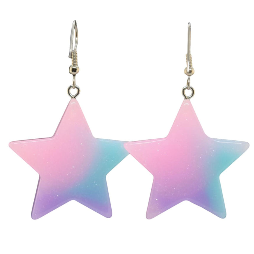 Pastel Ombre Star Earrings