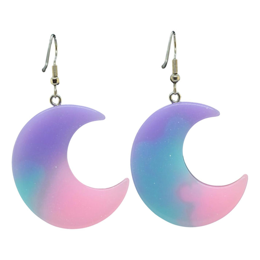 Pastel Ombre Moon Earrings