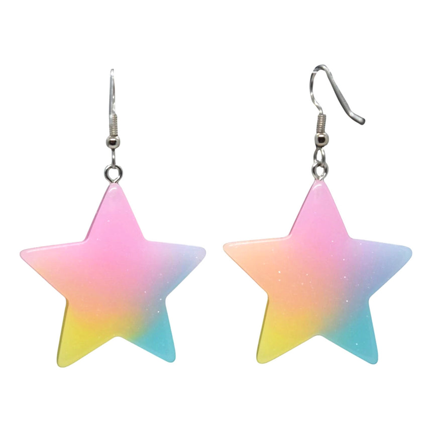 Neon Ombre Star Earrings