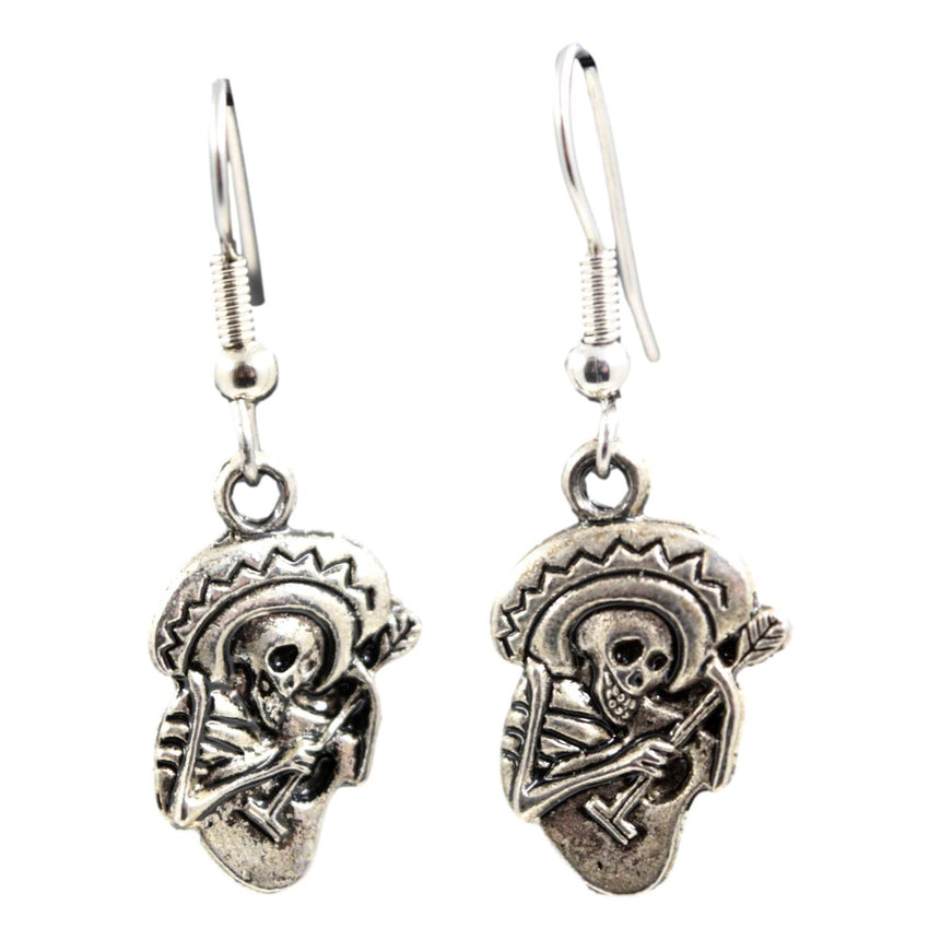 Day of the Dead Skeleton Guitar Earrings