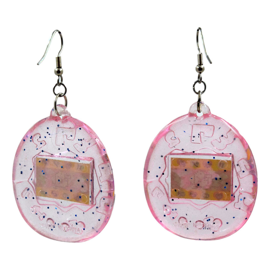 Vintage Light Pink tamagotchi Earrings