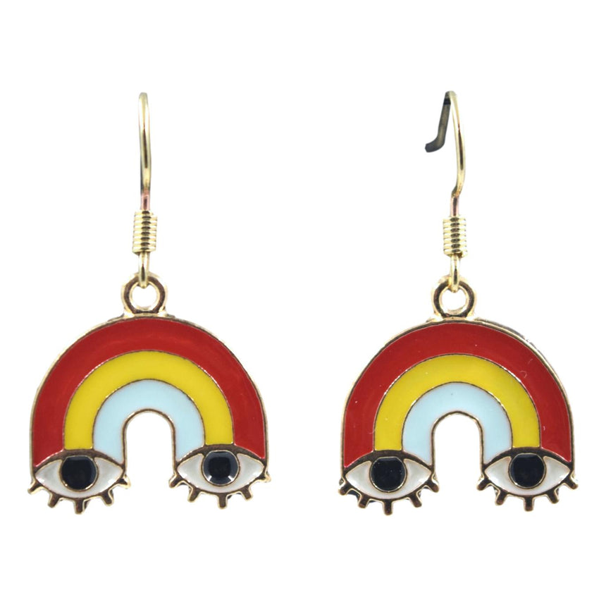 Rainbow Eye Earrings