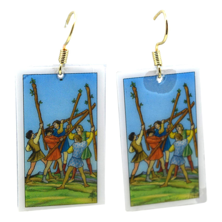 Five of Wands Tarot Card Tarot Card Earrings