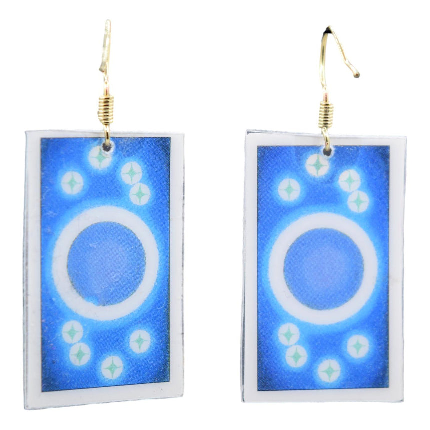 Knight of Pentacles Tarot Card Earrings