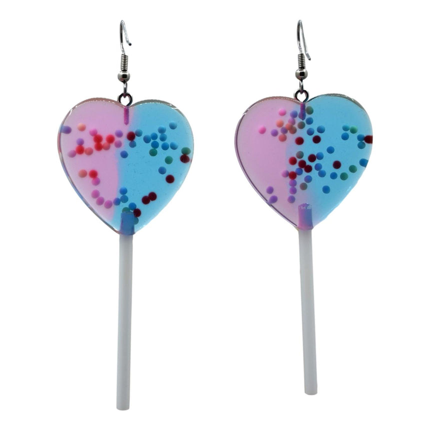 X-Large Blue Purple Half Lollipop with Sprinkles