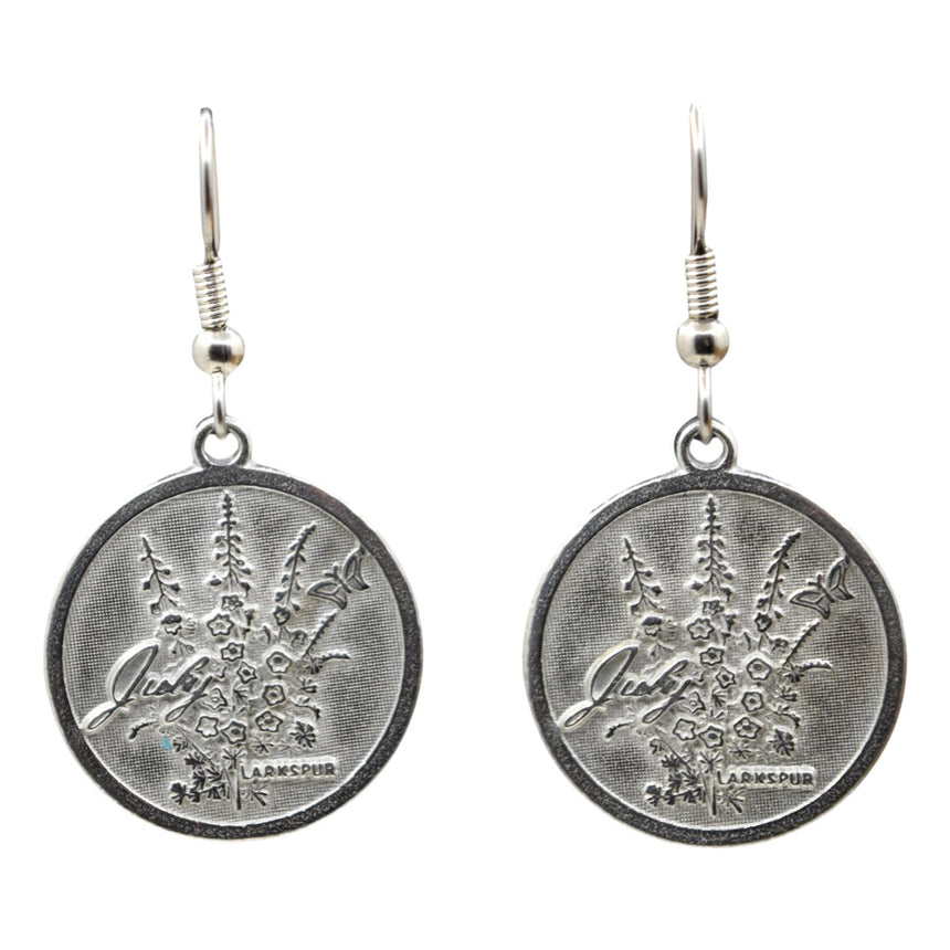 Flower of the Month: Larkspur! July Vintage Silver Coin Earrings