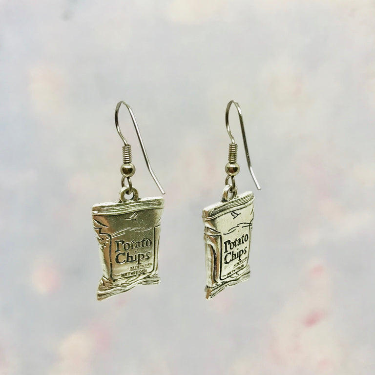 Bag of Potato Chips Earrings