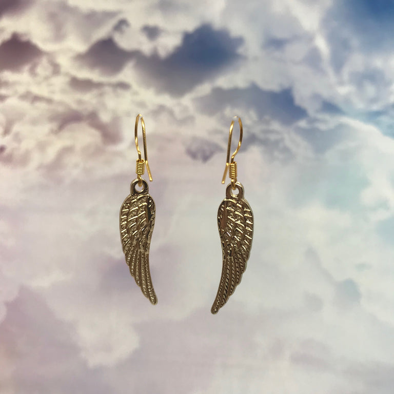 Vintage Gold Angel Wings Earrings