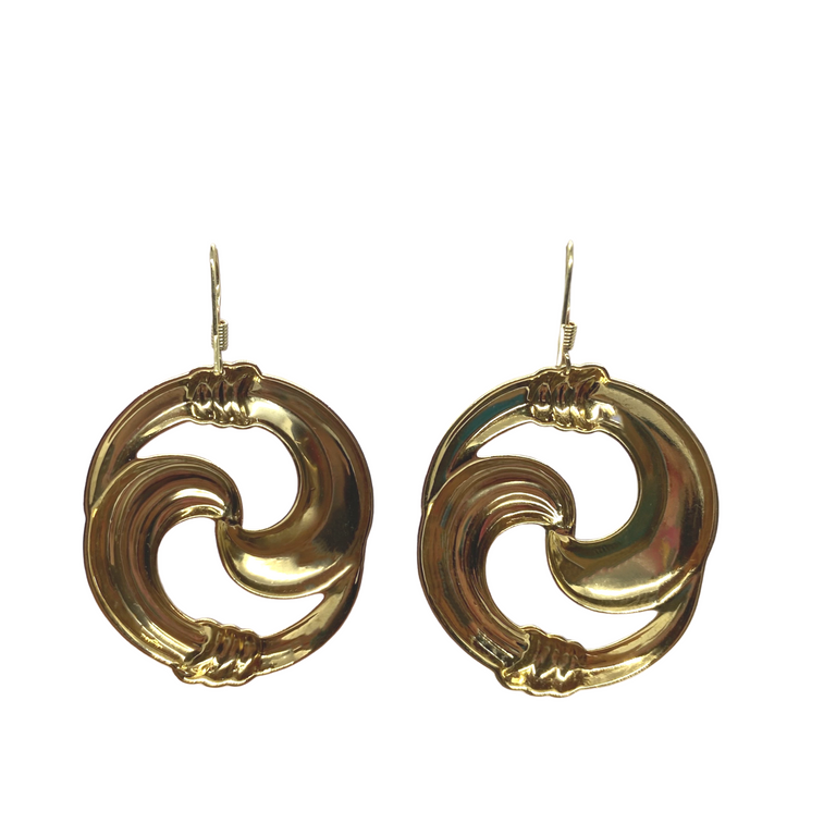 Vintage Infinity Symbol Brass Stamping Earrings