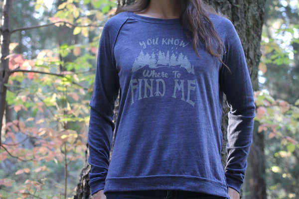You Know Where To Find Me Jersey Long Sleeve - Always CA