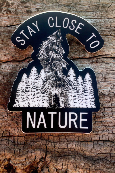 Stay Close To Nature Bear Sticker 3x3 - Always CA