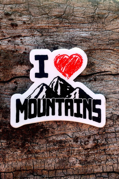 I Heart Mountains Sticker 2x2 - Always CA