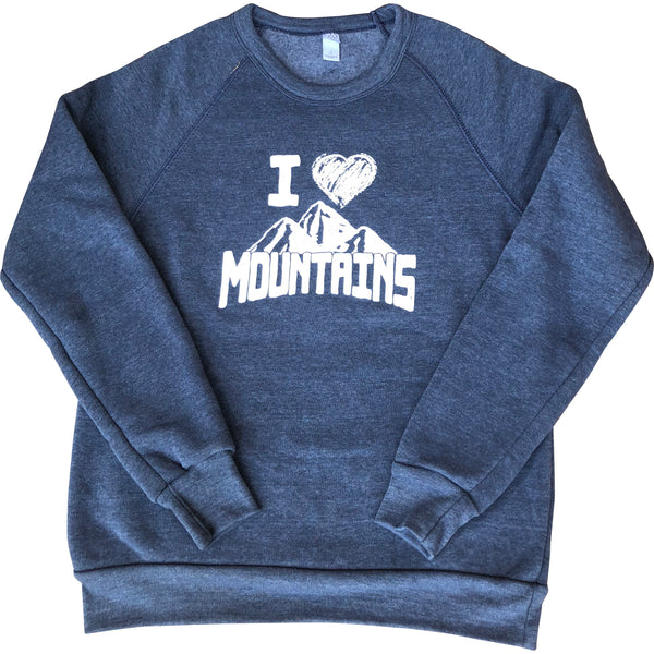 I Heart Mountains Eco-Fleece Sweatshirt - Always CA
