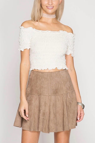 River Side Knot Top in Mocha