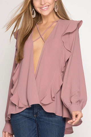 Lacey Self-Tie Blouse