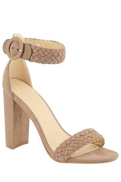 Braided Heels in Taupe