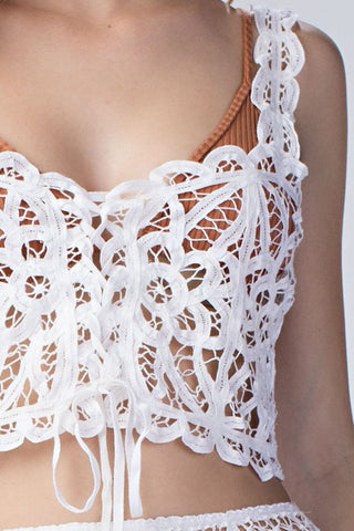Alison Lace Top in White