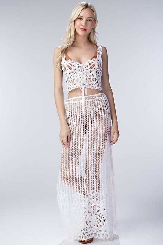 Cara Crochet Crop Top