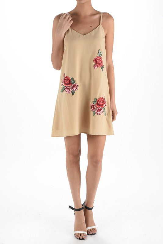 Rose Patch Tank Dress