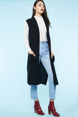 Clarissa Layered Bell Sweater in Black