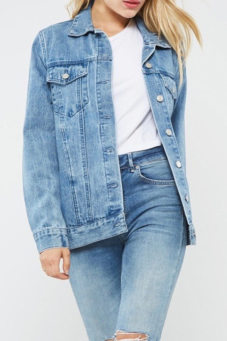 Marisol Embroidered Denim Jacket
