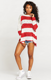 Bonfire Sweater in Stripes - SHOW ME YOUR MUMU