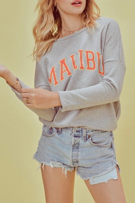 Malibu Sweatshirt in Heather Gray
