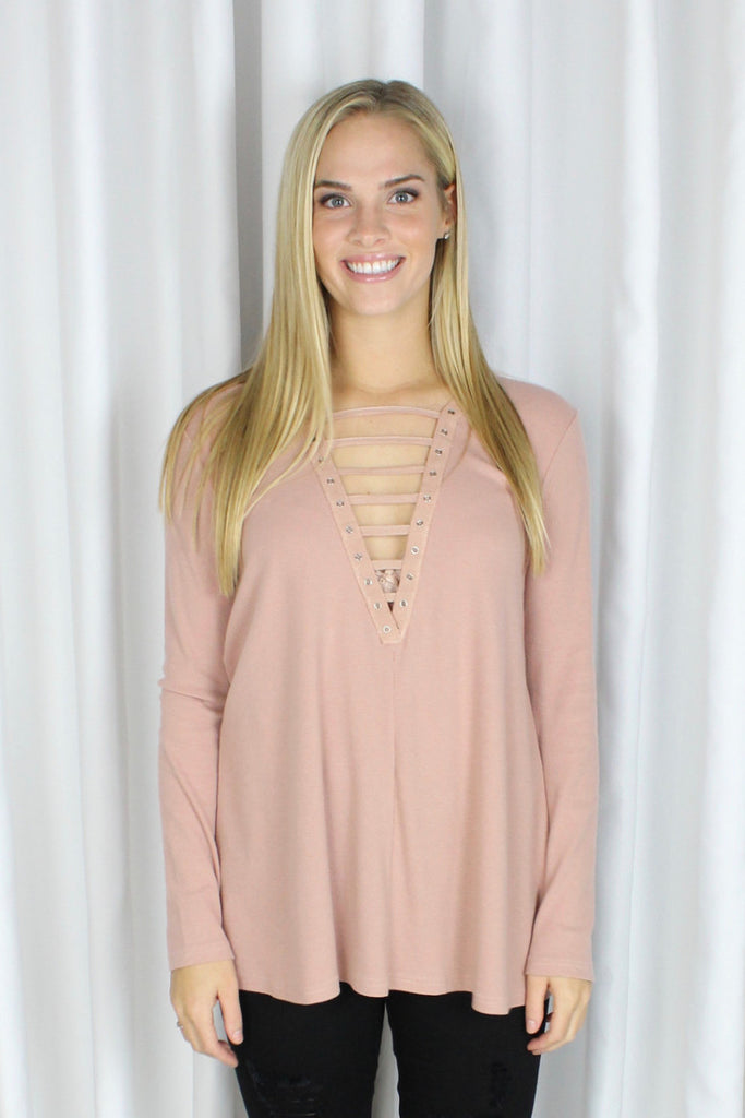 Ladder of Fact Top in Blush