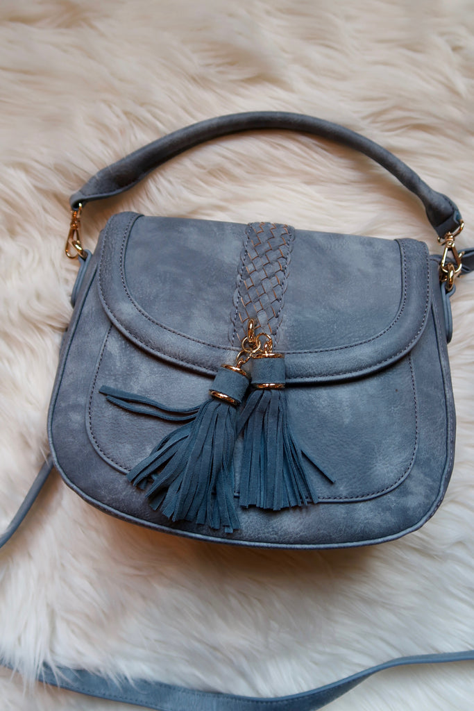 Anika Satchel in Denim