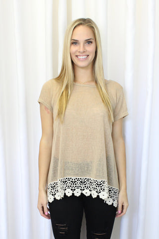 Olivia Top in Taupe