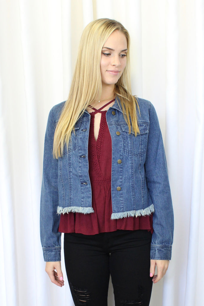 Marky Frayed Denim Jacket