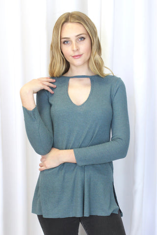 River Side Knot Top in Olive