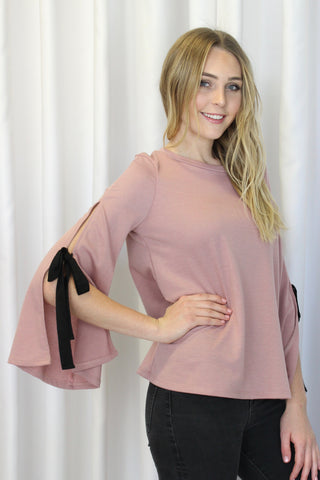 Celeste Ruffle Blouse in Black