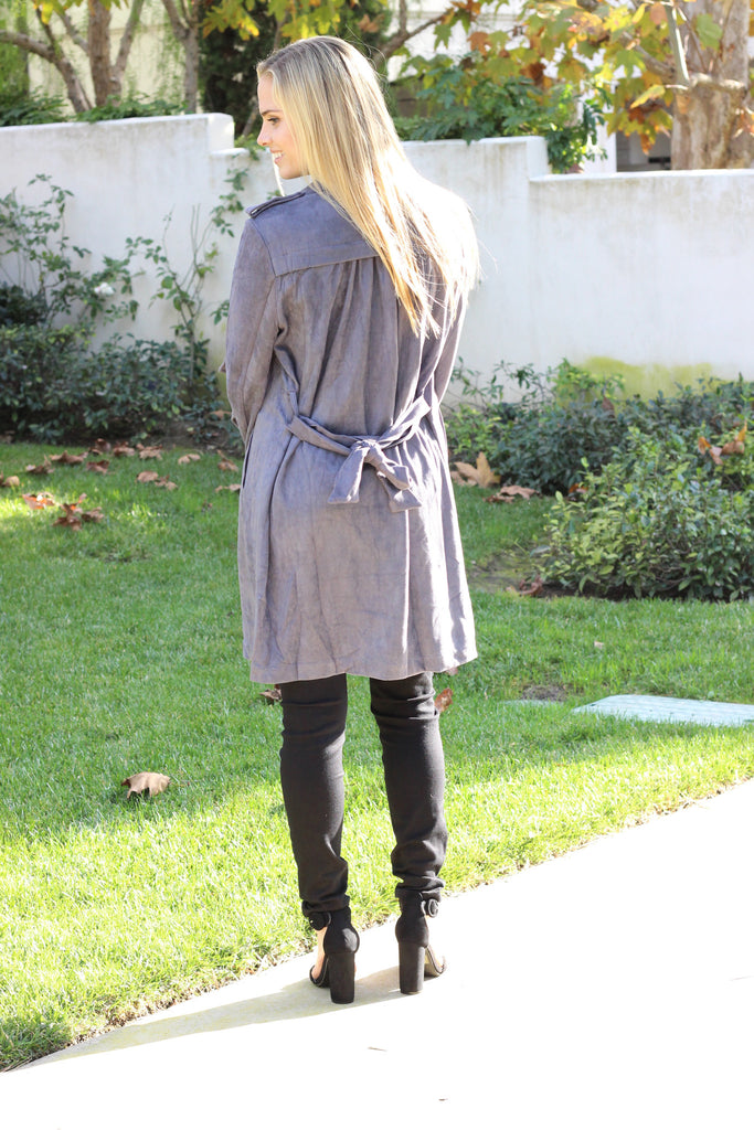 Seattle Suede Trench