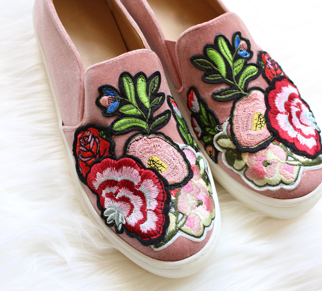Penelope Embroidered Sneakers in Rose