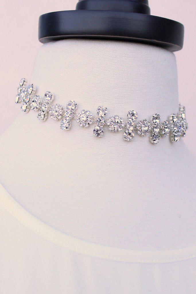 Paris Luxe Embellished Choker - White or Blush