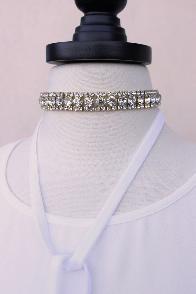 Adrina Crystal Wrap Necklace