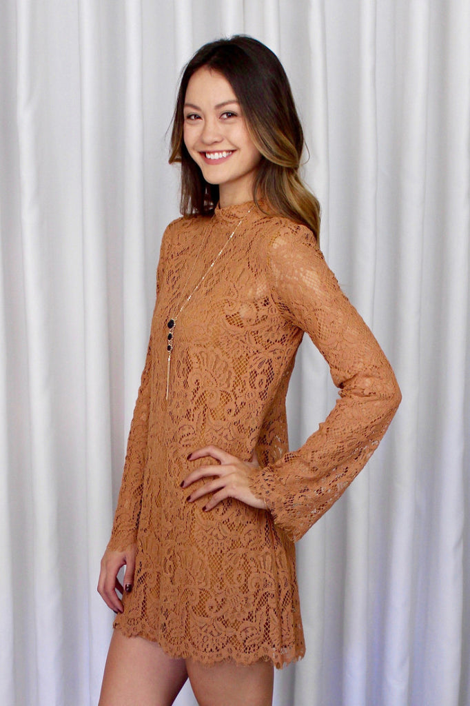 Juliet Lace Dress in Marigold